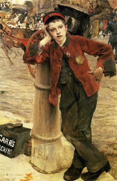 Jules Bastien-Lepage [French Realist Painter, London Bootblack, nd Paintings I Love, Love Painting, Figure Painting, Portrait Paintings, Portrait Art, Art Paintings, Francoise Gilot, Carl Spitzweg, Antoine Bourdelle