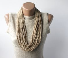 Skinny Scarf Necklace  vegan scarf  infinity di violasboutique, $12,00