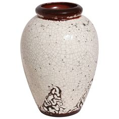 Jean Besnard French Art Deco Stoneware Vase | From a unique collection of antique and modern vases and vessels at https://www.1stdibs.com/furniture/decorative-objects/vases-vessels/
