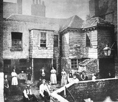 Row of houses, late 1800s London
