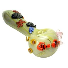 Empire Glassworks Under the Sea Spoon Pipe - Side View 1
