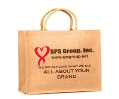 Large jute tote bag perfect for shopping, gifts, and giveaways.  #christmasideas, #holidayideas