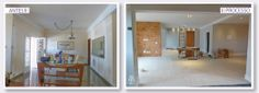 A solicitação nesta casa foi modificar e dar claridade aos espaços existentes e construir mais um ambiente onde ficará a sala de jantar nova.