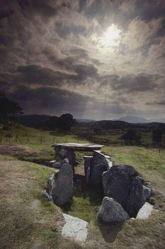 Prehistory enigmatic stone burial chambers grace the Welsh landscape, Wales Stonehenge, Cairns, Region Bretagne, All Nature, Ancient Ruins, British Isles, Places To See, Beautiful Places, Scenery