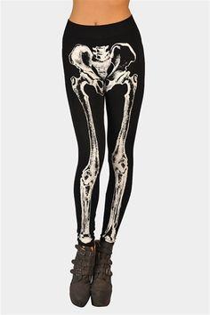 Skelator Print Legging - Black at Necessary Clothing