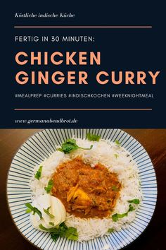 Chicken Ginger Curry Garam Masala, Chana Masala, Naan, Weeknight Meals, Easy Meals, Kitchen Impossible, Curry, Yummy Food, Yummy Recipes
