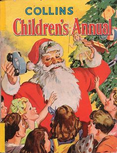 Vintage Christmas Magazines ~ Collins Children's Annual * Circa, 1950's