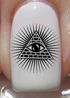 35 Nail Art Decals Waterslide ALL SEEING EYE Ra by NorthofSalem, $4.99