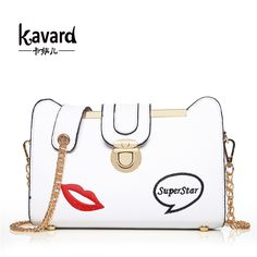 Lip Chains crossbody ladies hand bag 2017 Kavard luxury women bag handbag women famous brands bolsas Sac A Main Femme De Marque #Affiliate