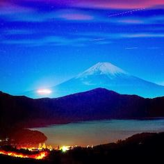 Mont Fuji at night - Japan