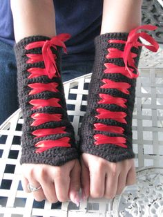 these are my black Corset Fingerless Gloves.  I'm considering starting to sell these again.