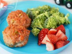 "Toddler Mini Meatloaf... could use same method but use recipe for ""regular"" meatloaf."