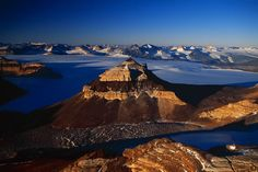 West Beacon, Taylor valley, chain of the dry valleys (61°05' S, 161°00' E) by Yann Arthus-Bertrand