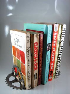 Bookends  Recycled Bike Parts  Handmade by RhythmicMetal on Etsy, $40.00