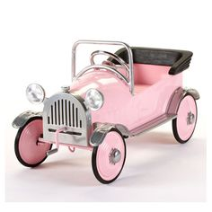 Little girls will absolutely flip for our Pretty Pink Princess Pedal Car by Airflow Collectibles! The Airflow Pretty Pink Princess Pedal Car features all metal construction, Lead-Free Powder Coat Paint, Three position adjustable pedal assembly, and Pretty In Pink, Pretty Pink Princess, Pink Love, Perfect Pink, Pretty Cars, Hot Pink, Carros Oldies, Toys For Girls, Kids Toys