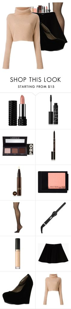 """Untitled #883"" by cheyleexox ❤ liked on Polyvore featuring Kat Von D, NARS Cosmetics, LORAC, Anastasia Beverly Hills, Tom Ford, Maybelline, Calvin Klein, Thairapy365, Too Faced Cosmetics and Max&Co."