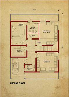 House Plan for 28 Feet by 35 Feet plot (Plot Size 109