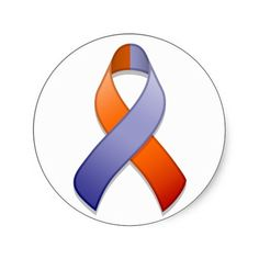 The orange and orchid awareness ribbon support psoriasis and eczema.