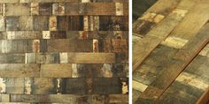 Reclaimed Wine Barrel Stave Mosaic Prefab Panels |  Use coupon code Pinterest10 for 10% off.