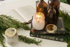 Vela de alecrim está entre as dicas de presente feito à mão para o especial de Natal.