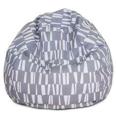 Majestic Home Goods 85907224067 Gray Sticks Small Classic Bean Bag