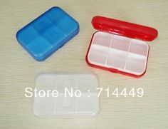 Elegant 6 Slots Portable Plastic Medicine Pill Box Medicine Case traveler s love multifunctional storage box >>> See this great product.
