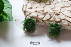 Forest nature natural fairy earrings jewelry. by RoseOfTheFlames