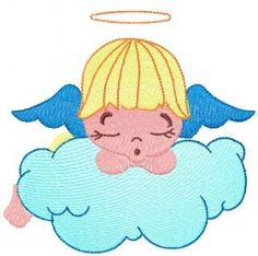 Little sleeping angel free embroidery design 5. Machine embroidery design…