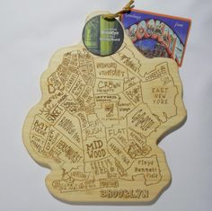 Totally Bamboo Brooklyn Cutting Board City Life Serving New York NWT #TotallyBamboo