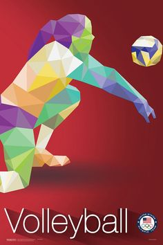 Olympic Volleyball Rio  2016 Olympic Poster Rio by TheTravelShop