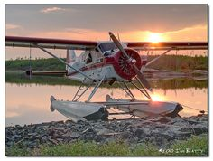 DHC-2 Beaver tied to the shoreline while we do some pickerel fishing on the Grass River in northern Manitoba. #floatplane #seaplane