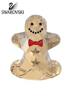 "Swarovski Crystal Christmas Figurine ROCKING GINGERBREAD MAN Size: 1.5"" #5004554 New in original box with certificate"