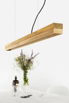 [C1o] Oak Pendant light - oak wood and oak - includes high quality Osram LED string - handmade by GANTlights in Berlin.