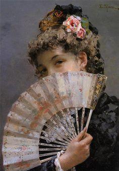 Edoardo Tofano, Lady with a Fan.