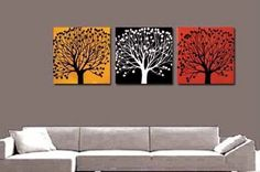 100% Hand Painted Oil Painting 3 Piece Canvas Art Modern Art Wall Art Deco Home Decoration Group Painting Artwork Colorful Tree (Unstretch No Frame) galleryworldwide,http://www.amazon.com/dp/B009Y3B3K0/ref=cm_sw_r_pi_dp_r.dZsb1Y82QE69PT