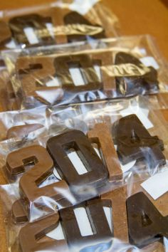 Chocolate '2014' numbers. Available in milk, dark and white chocolate.