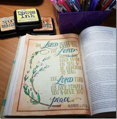 My Weekly Bible Journaling #9 | Paulette's Papers - Book of Numbers