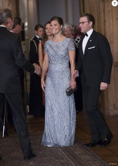 "Sweden Royal Family attended the official dinner of the ""Sweden Dinner"" at the Royal Palace of Stockholm on September 4, 2015."