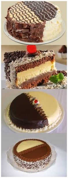 Bolo Dois Amores 2 xícaras de açucar 2 xícaras de farinha de trigo 1 xícara de chocolate em pó #bolo#torta#doce#sobremesa#aniversario#pudim#mousse#pave#Cheesecake#chocolate