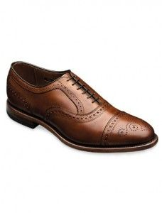 Handcrafted leather made in USA shoes for men: Allen Edmonds makes American made dress shoes built to last. One of our readers will win a pair of cap toe oxfords! Usa Shoes, Men S Shoes, Oxford Brogues, Oxford Shoes, Men's Brogues, Formal Shoes, Casual Shoes, Shoes Style, Men's Style