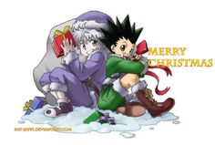 Killua and Gon (Merry Christmas!) ~Hunter X Hunter