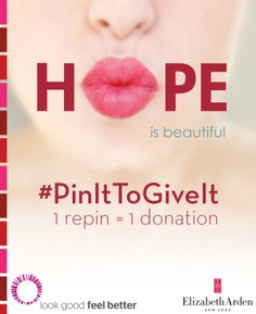 Join #PinChat tonight at 9PM ET on Twitter with Elizabeth Arden: #PinItToGiveIt