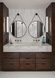 Modern Bathroom in New York, NY by Tamara Eaton Design