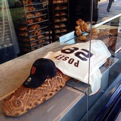 Instagram photo from @Boudin Bakery: Suited up for San Francisco Giants #SFGOpeningDay, repping #28, Buster Posey!
