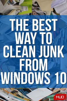 If you don't clean your computer, before long you'll encounter low disk space warnings and notice it slowing down. Let's walk through how to clean Windows 10 using a variety of tools for different situations. #SpringClean #Cleanup #Windows #Windows10 #Tools #HowTo #Software #Microsoft Computer Basics, Technology Hacks, Android Pc, Windows Software, Best Windows, Windows Operating Systems, Easy Woodworking Projects, Window Cleaner, Getting To Know You