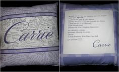 Bar & Bat Mitzvah Sign-In Pillow - inspired by logo and/or invitations (The Pieced Palette) - mazelmoments.com