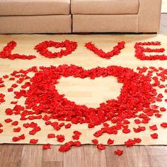 100 Pcs/Lot Rose Pétales De Fleurs Feuilles De Mariage Décorations Parti Festival Confettis Décor Événement et Articles De Fête