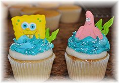 If you are looking for party themes, birthday party ideas, and you want someones birthday wishes to come true, SpongeBob sugar cookies and cupcakes is it.