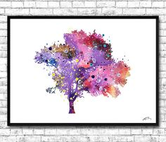 Tree watercolor printTree posterTree by ArtsPrint on Etsy