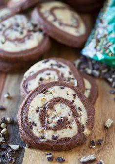 Chocolate-mint pinwheel cookies